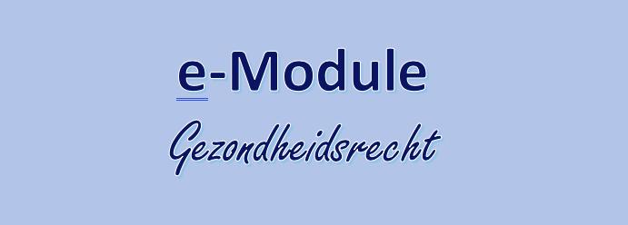 e-Module Gezondheidsrecht