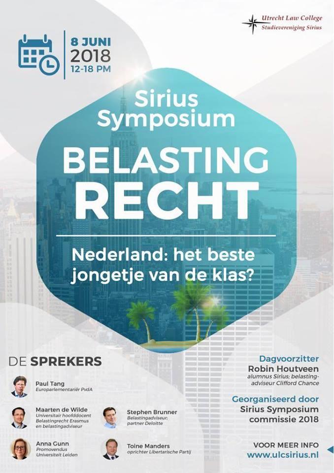 Symposium Sirius 2018: Belastingrecht